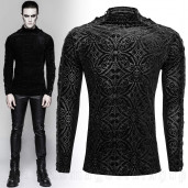 men's Romantic Goth Longsleeve Top by PUNK RAVE brand, code: T-467