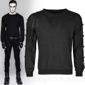 men's Skulls&Chains Longsleeve Top by PUNK RAVE brand, code: T-469