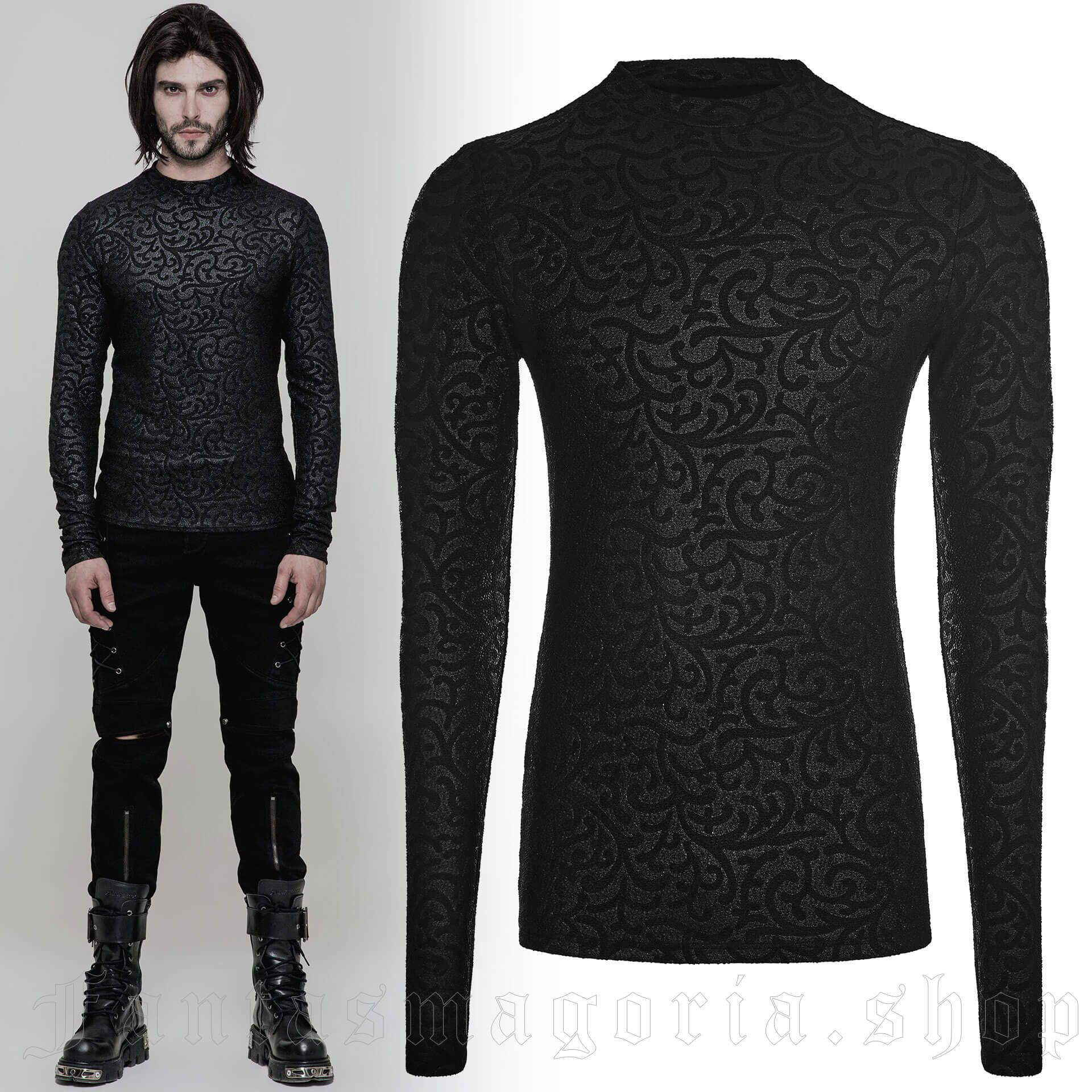 men's Narciss Longsleeve Top by PUNK RAVE brand, code: WT-511