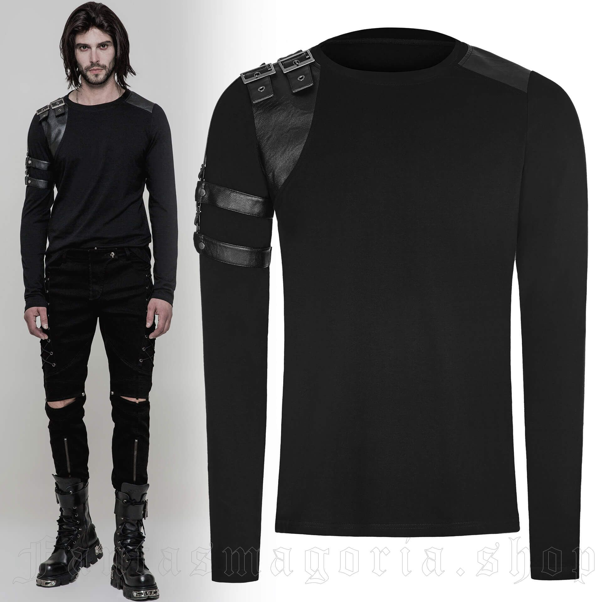 men's The Guard Longsleeve Top by PUNK RAVE brand, code: WT-513