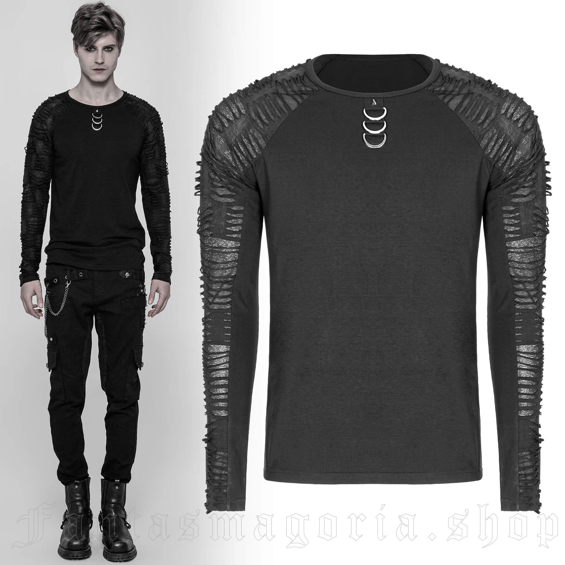 men's Nazgul Longlseeve Top by PUNK RAVE brand, code: WT-524