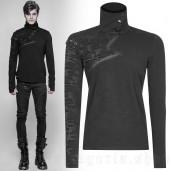 men's Black Plague Longsleeve Top by PUNK RAVE brand, code: WT-535