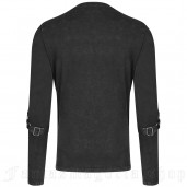 men's Nautilus Longsleeve Top by PUNK RAVE brand, code: WT-561/BK