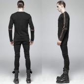 men's Nautilus Longsleeve Top by PUNK RAVE brand, code: WT-561/BK-CO
