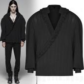 men's Noctivagus Shirt by PUNK RAVE brand, code: WY-1113/BK