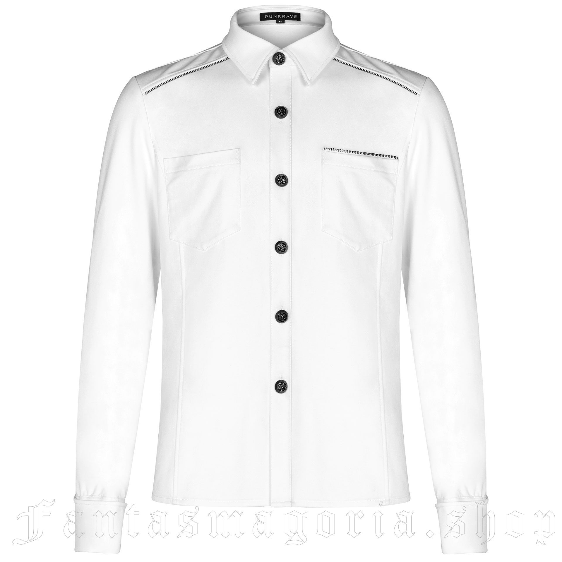 men's Deimos Shirt by PUNK RAVE brand, code: WY-1110/WH