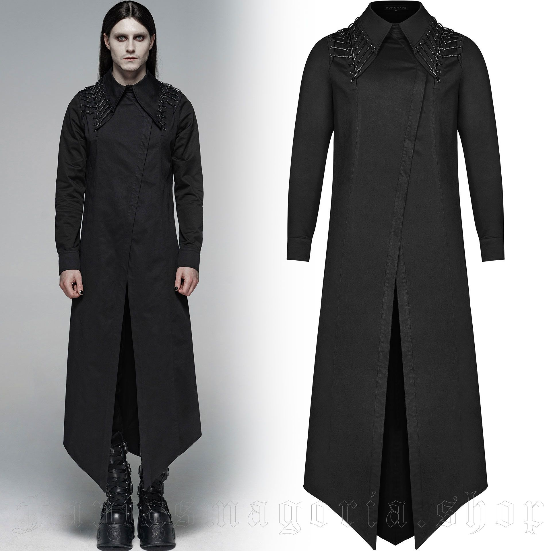 men's Malkavian Shirt-Robe by PUNK RAVE brand, code: WY-1104