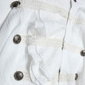 men's Roque Baroque Shirt by PUNK RAVE brand, code: WY-1031/WH