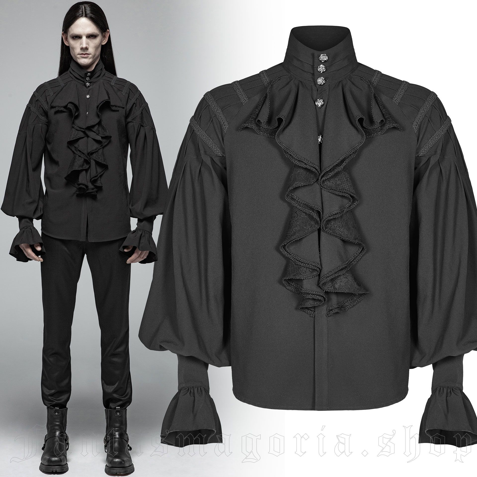 men's Faunus Shirt by PUNK RAVE brand, code: WY-991