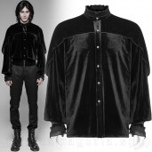 men's Romantic Goth Shirt by PUNK RAVE brand, code: WY-926/BK