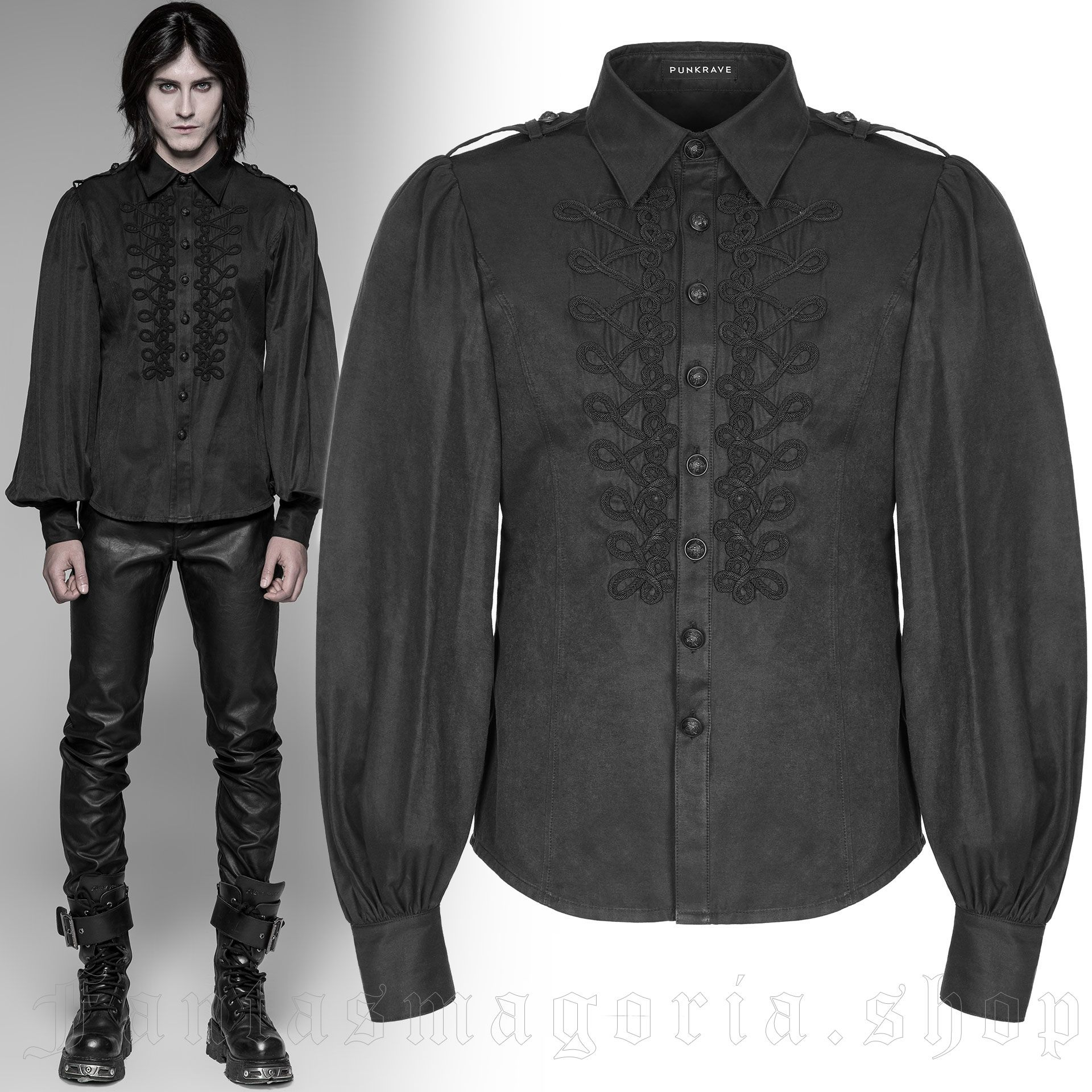 men's Ghostwood Shirt by PUNK RAVE brand, code: WY-914