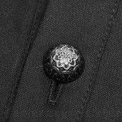men's Gangrel Shirt by PUNK RAVE brand, code: WY-907/BK