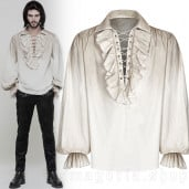 men's Orthodox Goth Shirt by PUNK RAVE brand, code: WY-873/WH