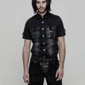 men's Dracarys Shirt by PUNK RAVE brand, code: WY-861/BK