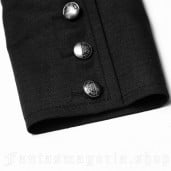 men's Viscount Shirt by PUNK RAVE brand, code: WY-848/BK