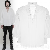 men's Viscount Shirt by PUNK RAVE brand, code: WY-848/WH