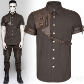 men's Aviator Shirt by PUNK RAVE brand, code: Y-757/CO