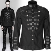 men's Mephisto Shirt by PUNK RAVE brand, code: Y-753/BK
