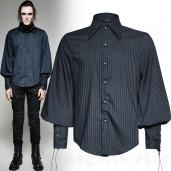 men's Edward Shirt by PUNK RAVE brand, code: Y-719/BL