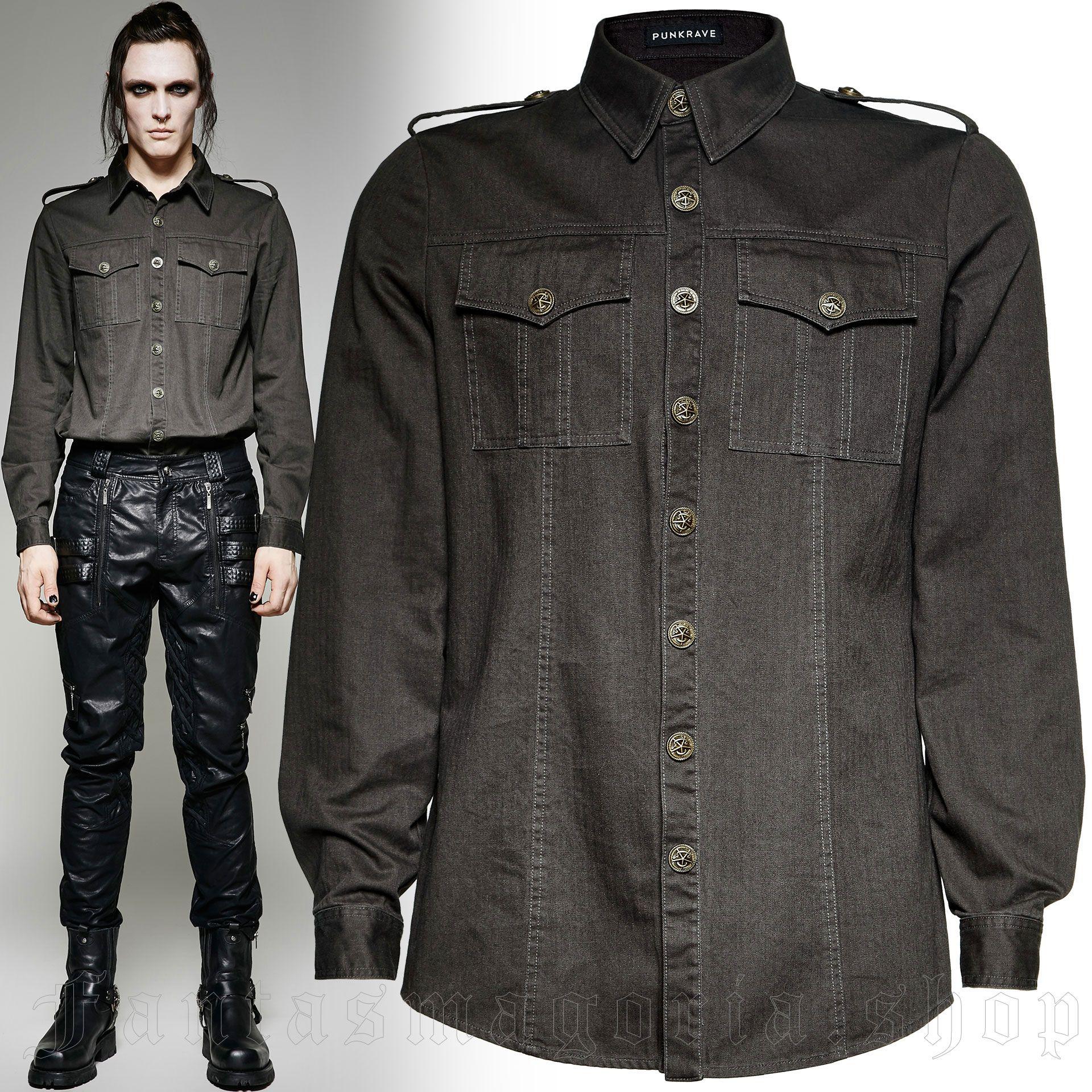 men's Commandant Shirt by PUNK RAVE brand, code: Y-715