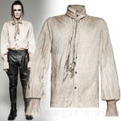 men's Bedouin Shirt by PUNK RAVE brand, code: Y-714/WH