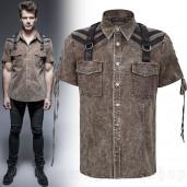 men's Apocalypse Shirt by PUNK RAVE brand, code: Y-652