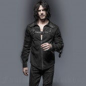 men's Wasteland Shirt by PUNK RAVE brand, code: Y-644/BK