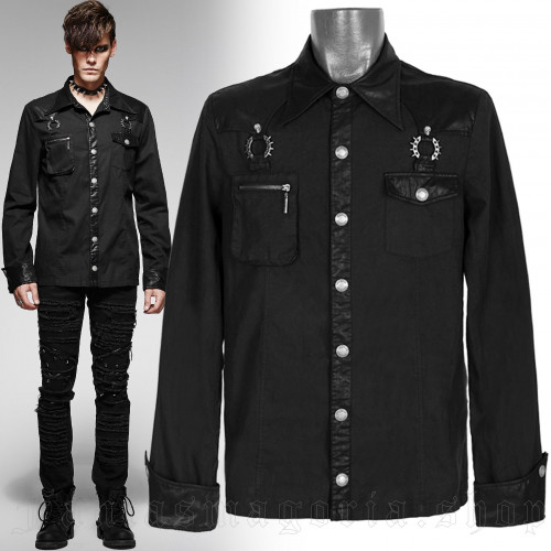 men's Nostromo Shirt by PUNK RAVE brand, code: Y-564