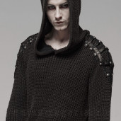 men's Mad Hatter Sweater by PUNK RAVE brand, code: WM-052/BK-CO
