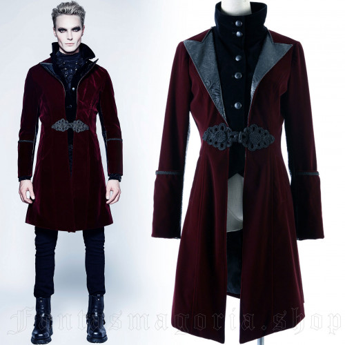 men's Elizium Frock Coat by PUNK RAVE brand, code: Y-377/RD