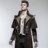 men's Aviator Coat by PUNK RAVE brand, code: Y-654/CO
