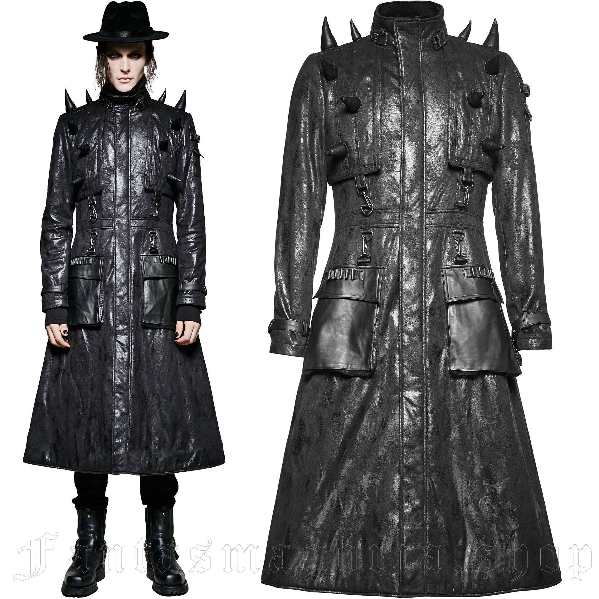 men's Hellrazer Coat by PUNK RAVE brand, code: Y-699