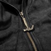 men's Black Martyr Coat by PUNK RAVE brand, code: Y-707/BK