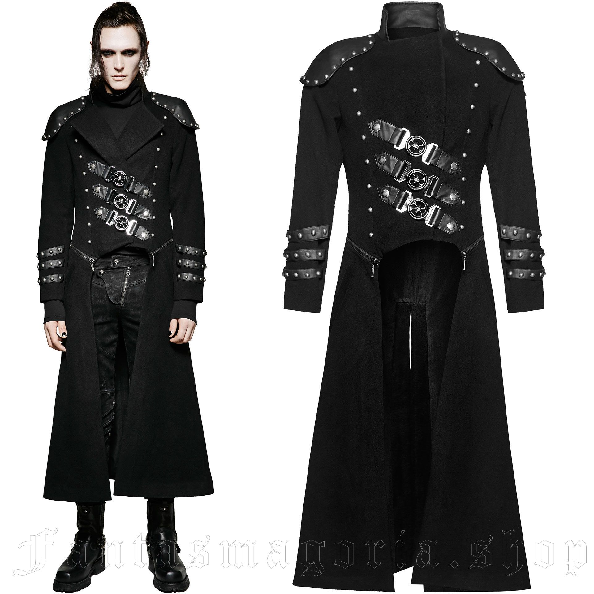 men's Daemon Coat by PUNK RAVE brand, code: Y-708