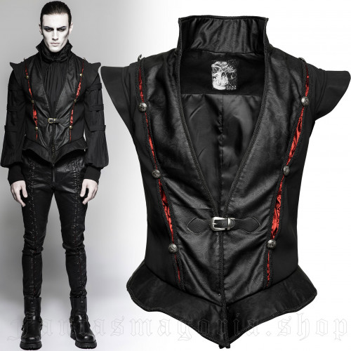 men's Narciss Vest by PUNK RAVE brand, code: Y-736