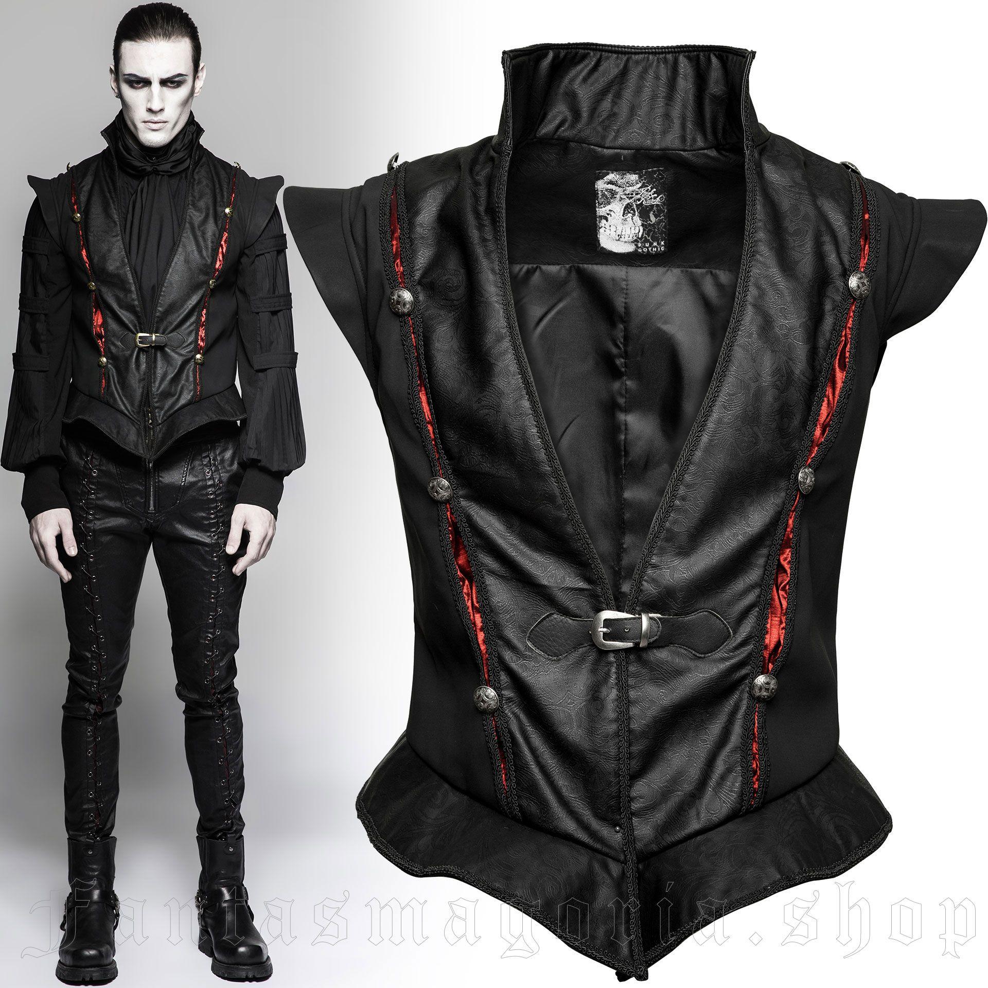 men's Narciss Vest by PUNK RAVE brand, code: Y-736