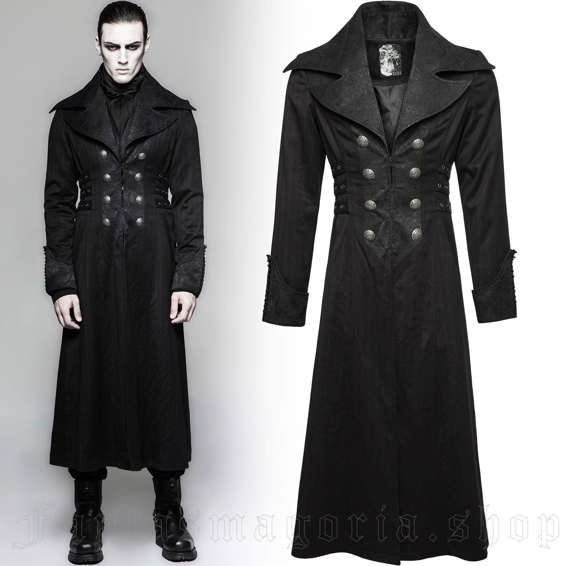 men's Viserion Coat by PUNK RAVE brand, code: Y-742/BK