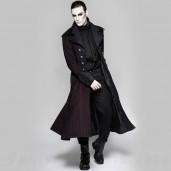 men's Viserion Coat by PUNK RAVE brand, code: Y-742/BK-RD