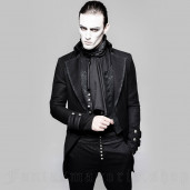 men's Black Cardinal Jacket by PUNK RAVE brand, code: Y-750