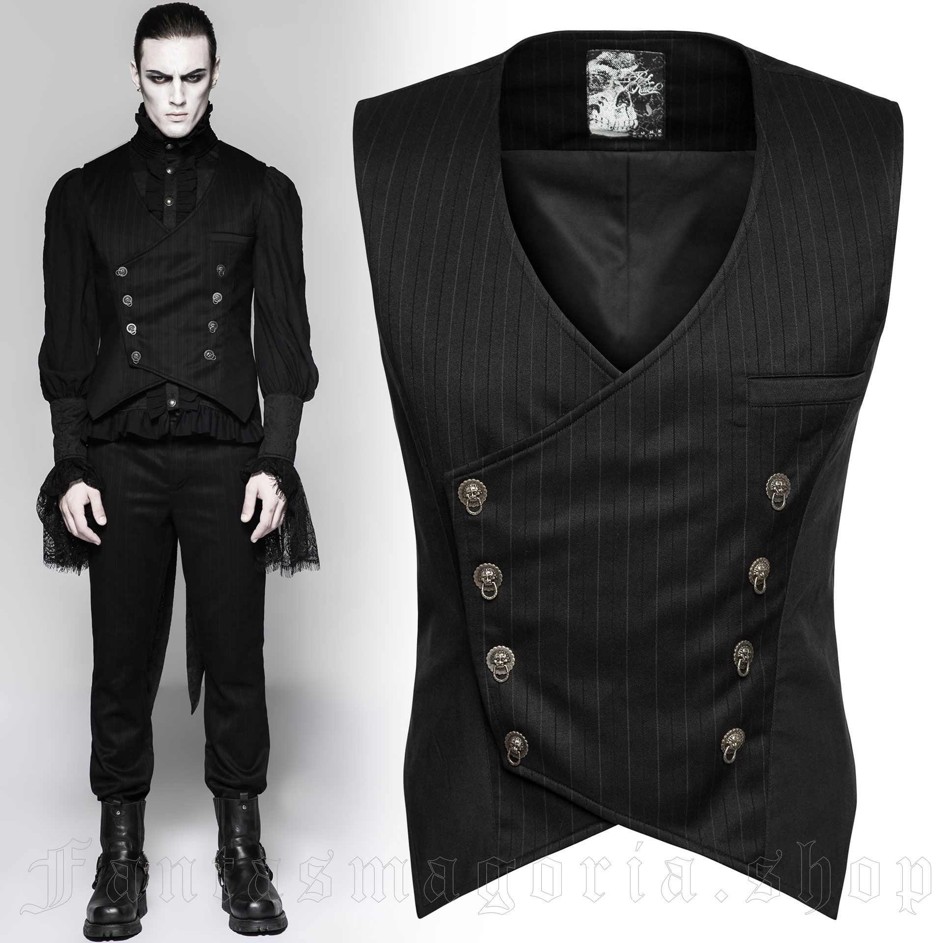 men's Cagliostro Vest by PUNK RAVE brand, code: Y-754