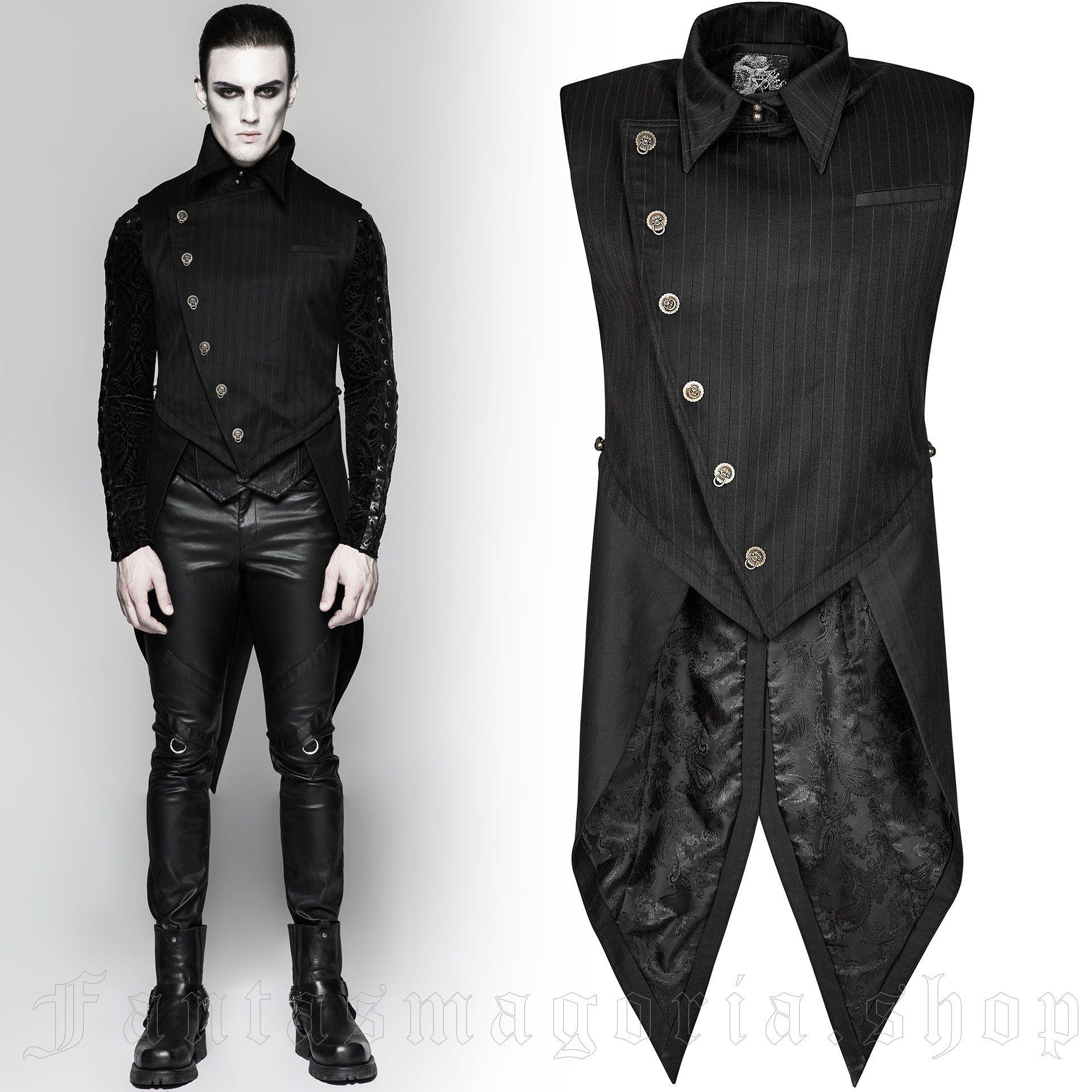 men's Mephisto Waistcoat by PUNK RAVE brand, code: Y-763