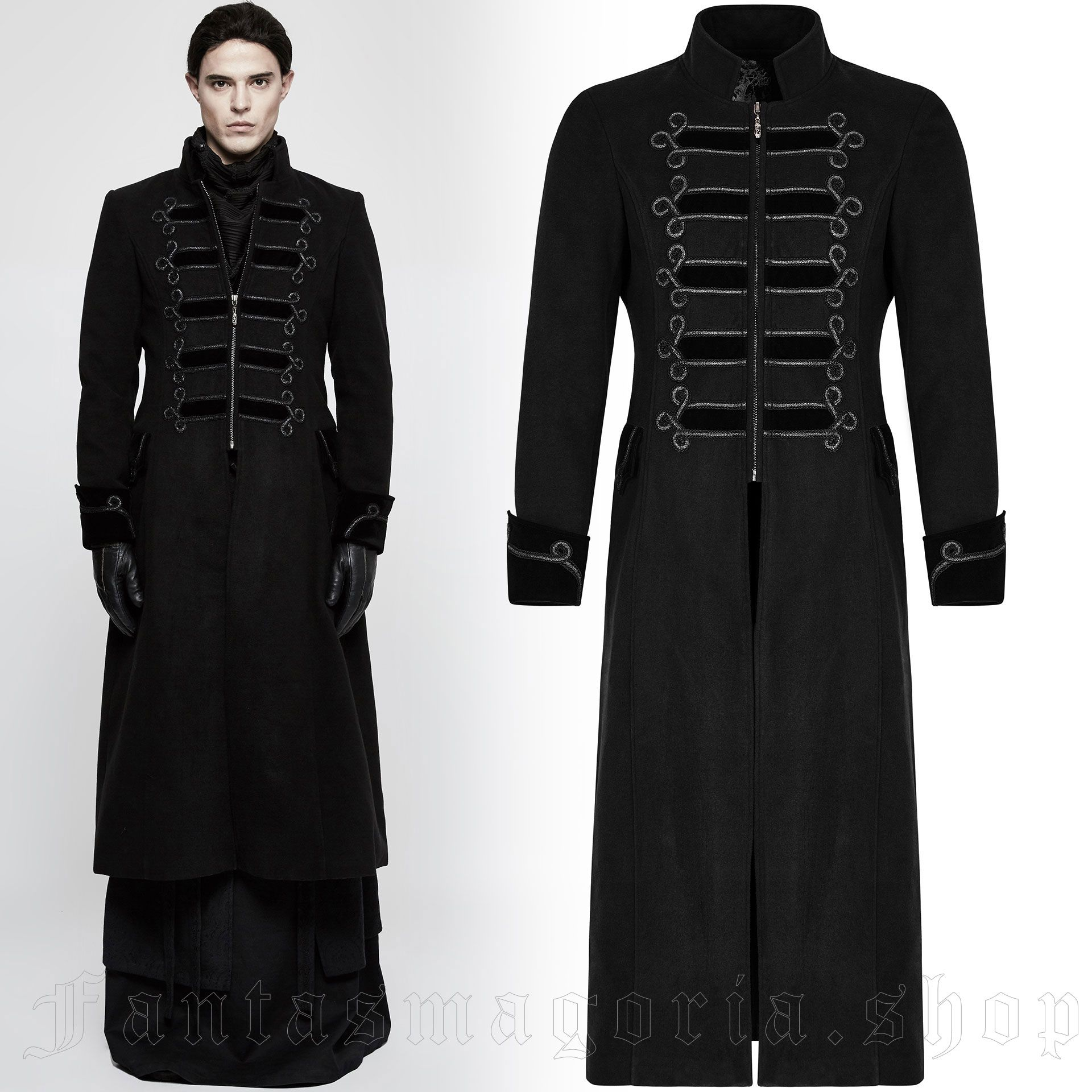men's Phantom Coat by PUNK RAVE brand, code: Y-798