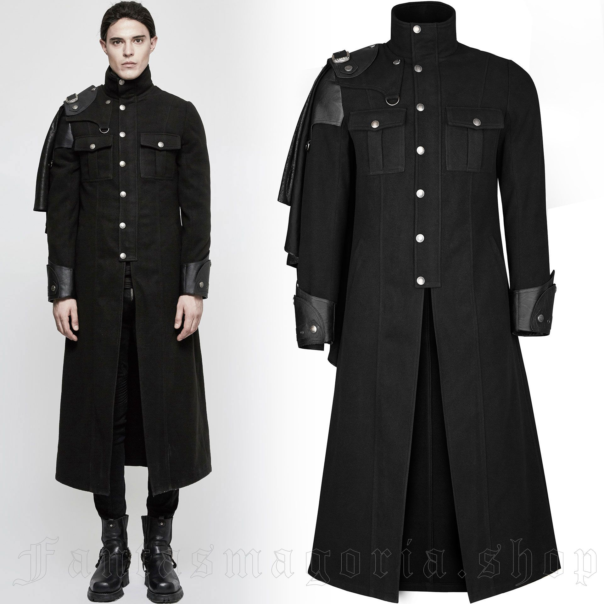 men's The Gothic Dynasty Coat by PUNK RAVE brand, code: Y-801