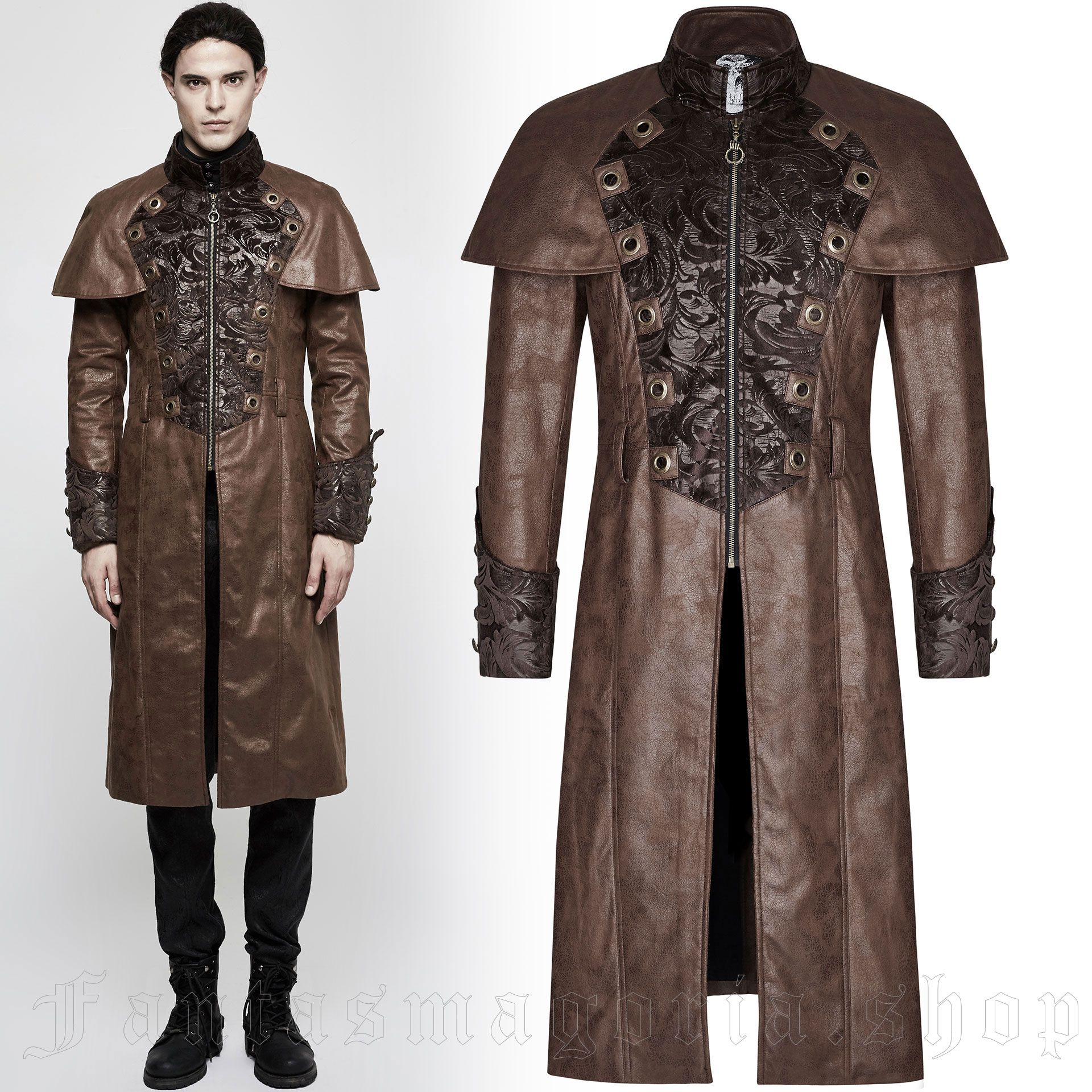 men's The Lannister Coat by PUNK RAVE brand, code: Y-802/CO