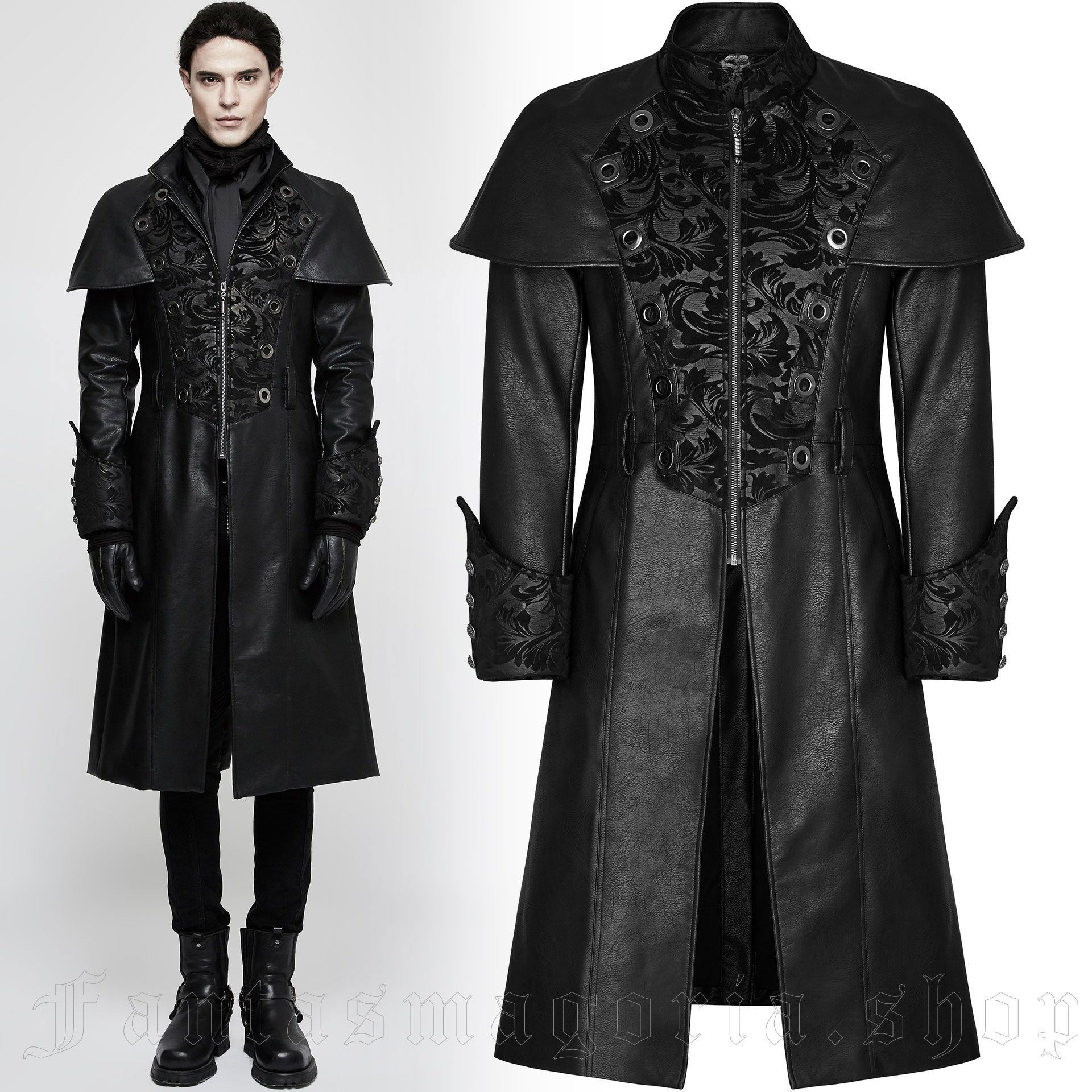 men's The Lannister Coat by PUNK RAVE brand, code: Y-802/BK