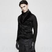 men's Gothic Regent Vest by PUNK RAVE brand, code: Y-807/BK