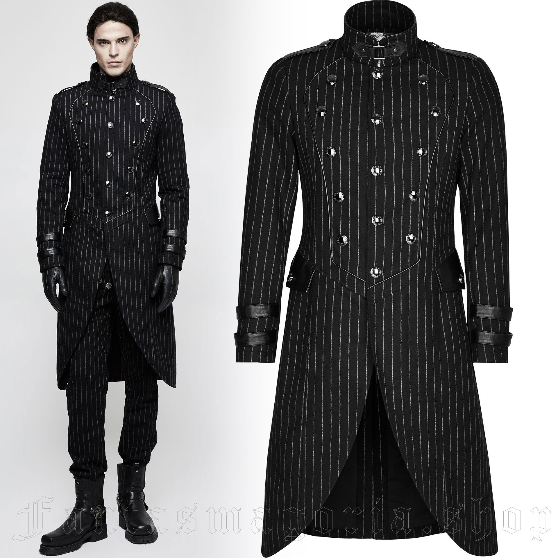 men's Sweeney Todd Coat by PUNK RAVE brand, code: Y-808/BK-ST