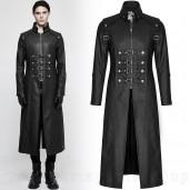 men's Nergal Coat by PUNK RAVE brand, code: Y-809/BK