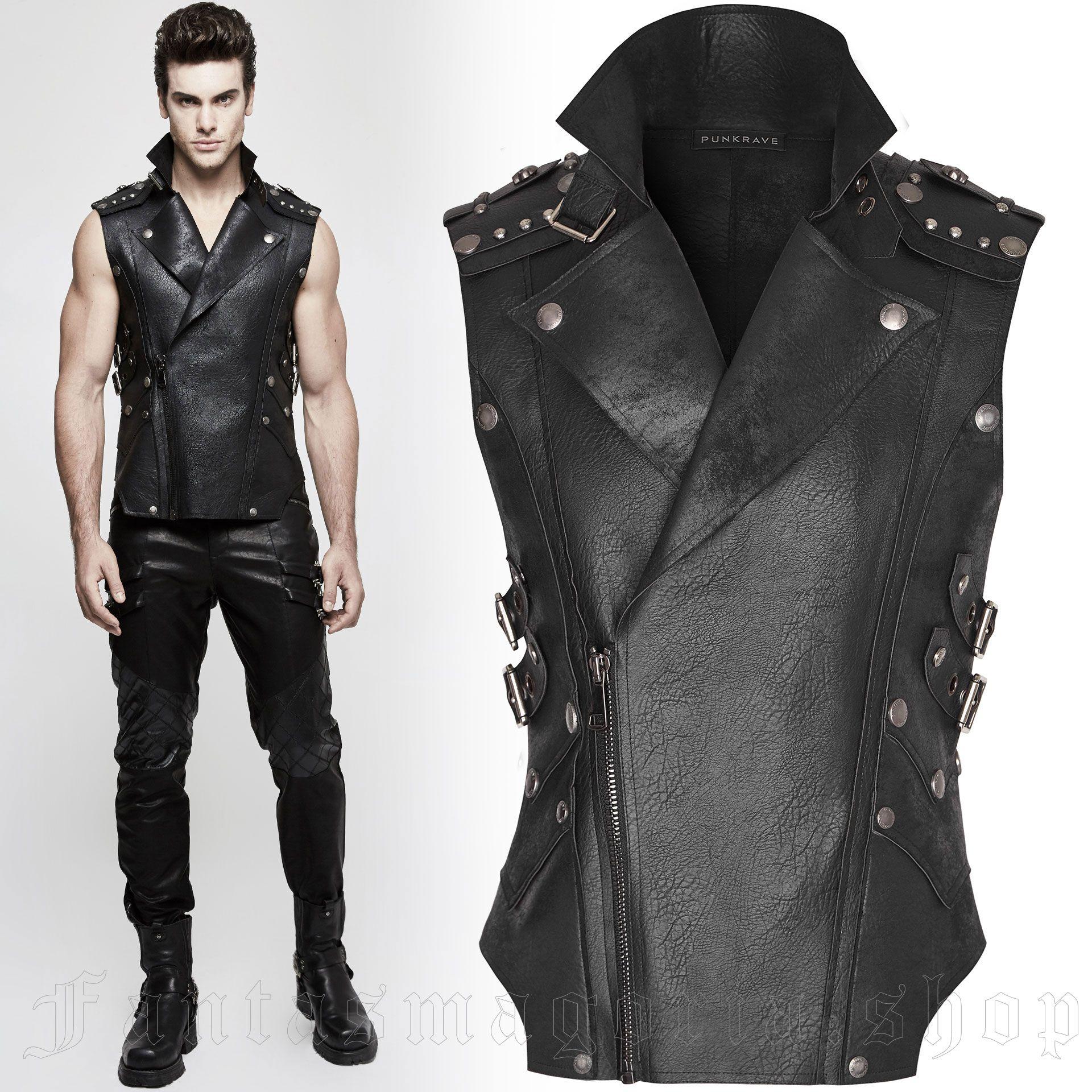 men's Nergal Vest by PUNK RAVE brand, code: Y-812