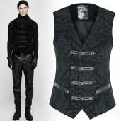 men's Poison Ivy Vest by PUNK RAVE brand, code: Y-813/GR